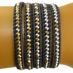 ProductTitle ProductTitle ProductTitle ProductTitle ProductTitle ProductTitle ProductTitle  Chan Luu Gray Swarovski Pearls and Gold Pl Indian Beads 5 Wrap Leather Bracelet BS3734     $167.99 On Sale: $125.99